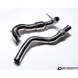 Sportowa Rura Downpipe i Midpipe Mercedes Benz GLA45 AMG [X156] - Agency Power [DP | Down Pipe | Mid Pipe | Katalizator]